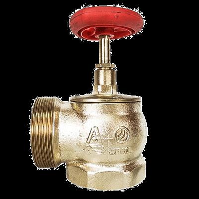 Клапан 51 мм, латунь (угловой, 90 градусов) КПЛМ 50-1 (муфта-цапка)