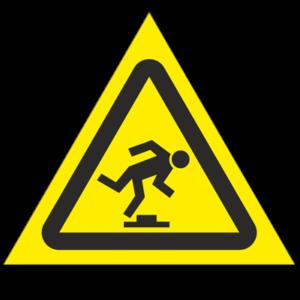 Знак - Осторожно. Малозаметное препятствие W14