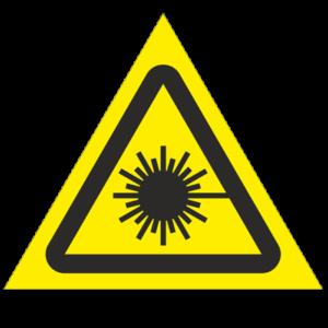 Знак - Опасно! Лазерное излучение W10