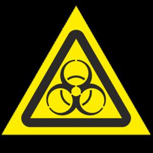 Знак - Осторожно. Биологическая опасность W16